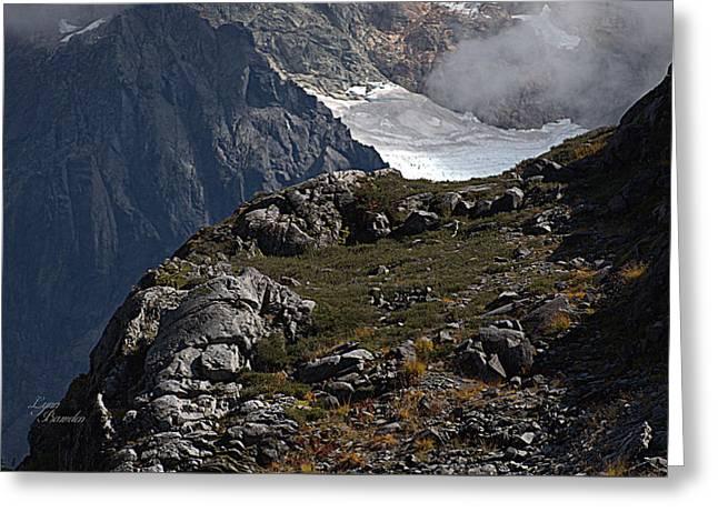 Shuksan Glacier Greeting Card by Lynn Bawden
