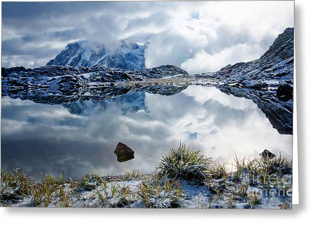 Shuksan In Fog Greeting Card by Idaho Scenic Images Linda Lantzy