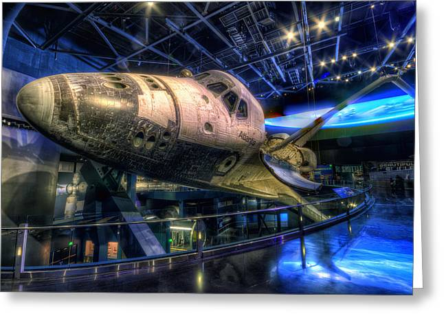 Shuttle Atlantis Greeting Card by Brad Granger