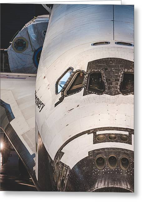Shuttle Close Up Greeting Card by David Collins