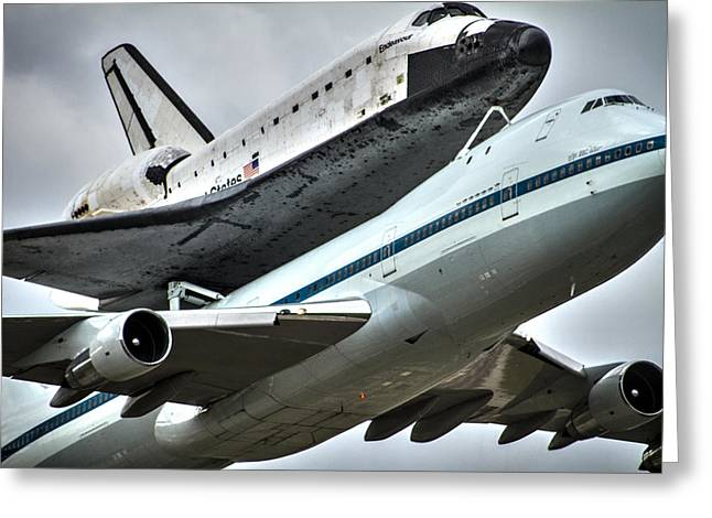 Shuttle Endeavour Greeting Card by Chris Multop
