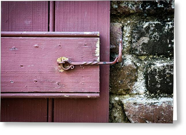 Shuttter Latch With A Twist Greeting Card