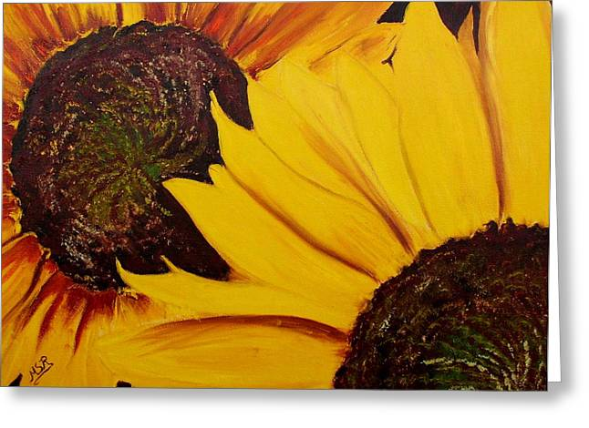 Shy Sunflower  Greeting Card by Maria Soto Robbins