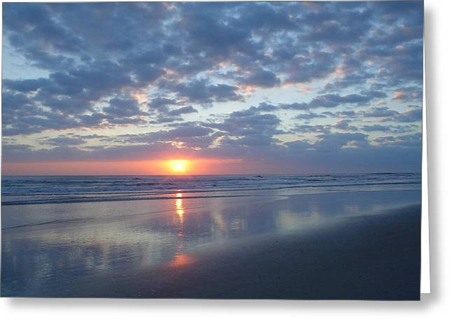 Shy Sunrise Greeting Card