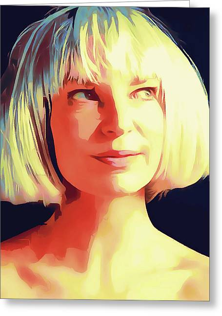 Sia Portrait Greeting Card
