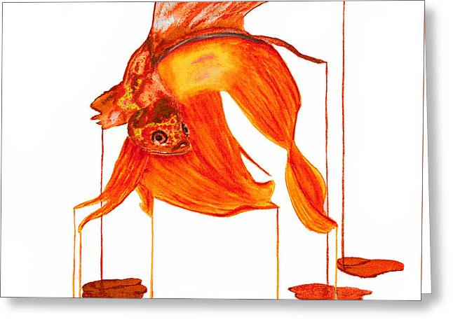 Siamese Fighting Fish 2 Greeting Card by Ken Figurski