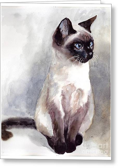 Siamese Kitten Portrait Greeting Card