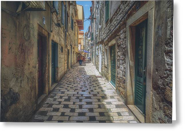Sibenik Alleyway No 1 Greeting Card by Chris Fletcher