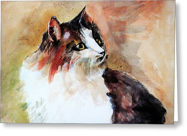 Siberian Forest Cat Greeting Card