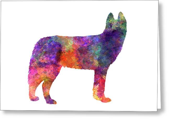 Siberian Husky 01 In Watercolor Greeting Card