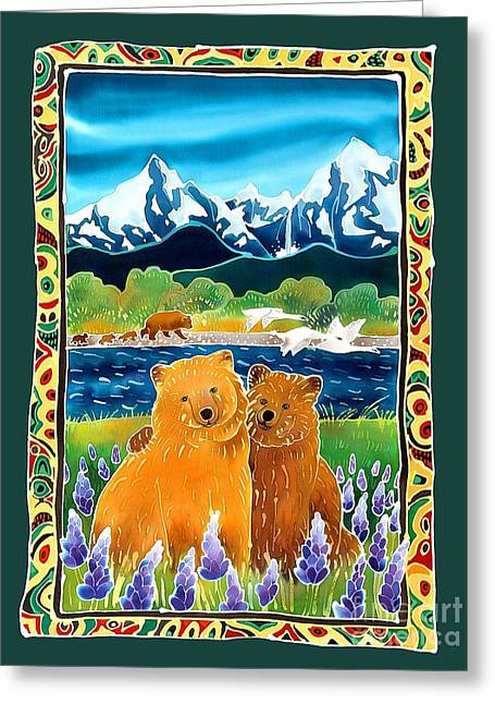 Sibling Bears Of Katmai Greeting Card by Harriet Peck Taylor