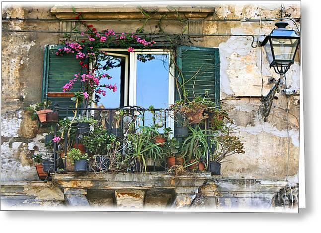Sicilian Balcony Greeting Card