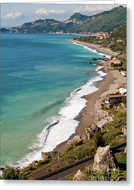 Greeting Card featuring the photograph Sicilian Sea Sound by Silva Wischeropp