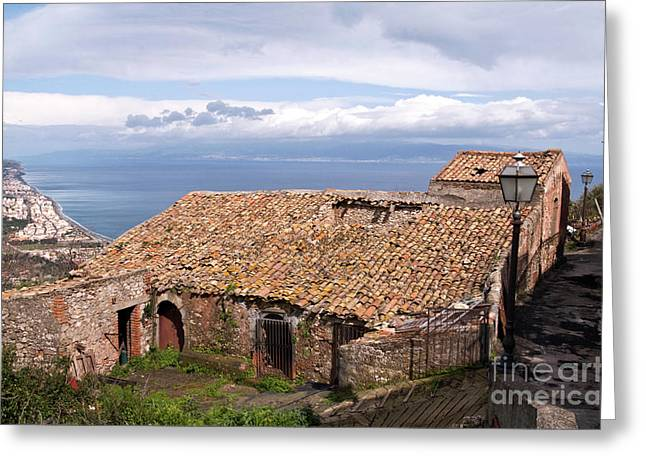 Greeting Card featuring the photograph Sicilian Forgotten Sound by Silva Wischeropp