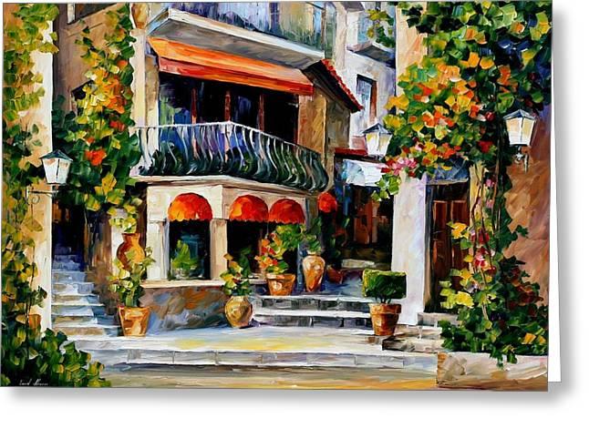 Sicily - Spring Morning Greeting Card by Leonid Afremov