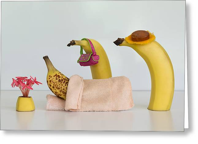 Sick Banana Greeting Card by Jacqueline Hammer