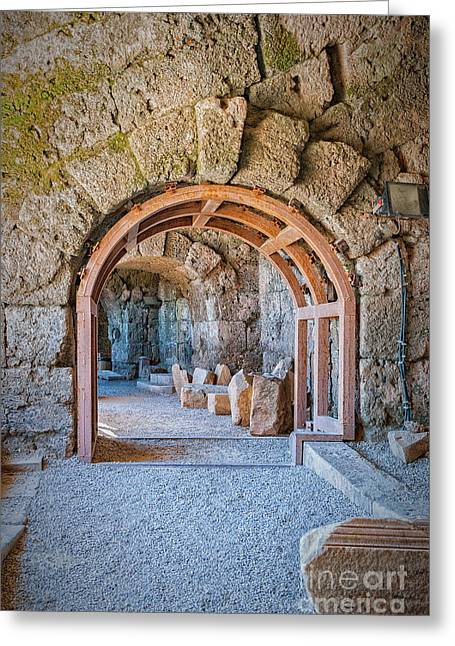 Side Amphitheatre Archway Greeting Card by Antony McAulay