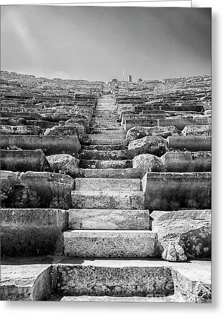 Side Amphitheatre Stairway Greeting Card by Antony McAulay