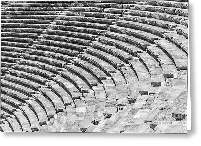 Side Amphitheatre Steps Greeting Card by Antony McAulay