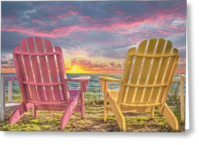 Side By Side At Dawn Greeting Card