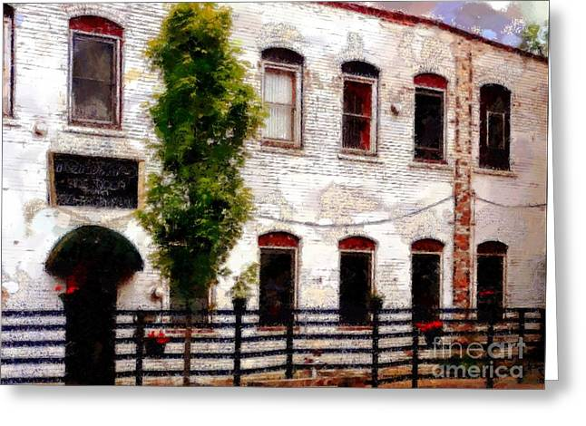 Side Door Restaurant On Main - Honesdale Pa Greeting Card