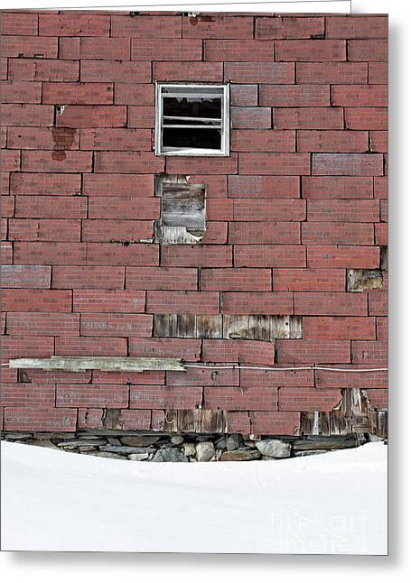 Side Of An Abandoned Old Barn Greeting Card by Edward Fielding