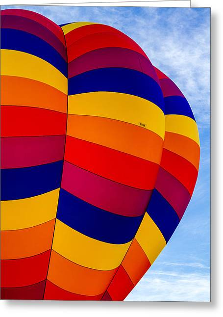 Side Of Hot Air Balloon Greeting Card by Teri Virbickis