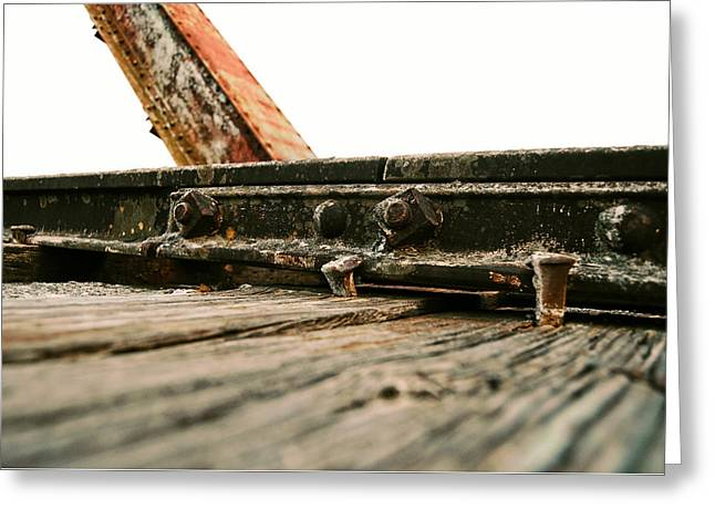 Side Of Rail #photography #trains Greeting Card