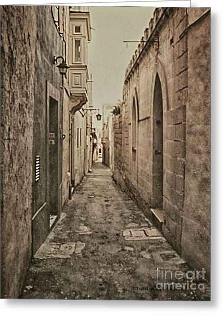 Greeting Card featuring the photograph Side Street Malta by Charles McKelroy