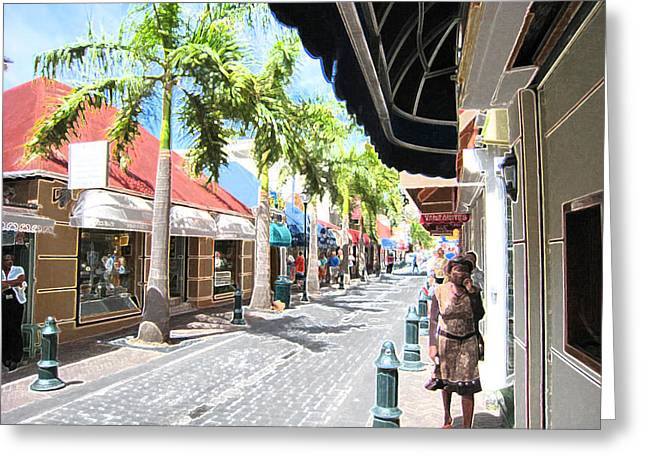 Greeting Card featuring the photograph Side Street by Michael Albright