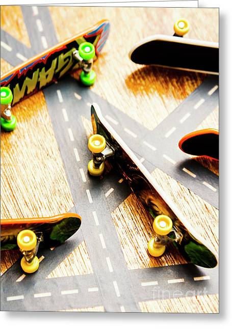Side Streets Of Skate Greeting Card