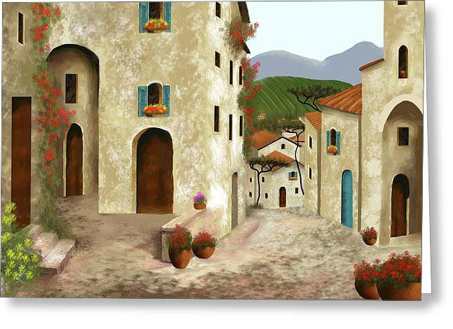 side streets of Tuscany Greeting Card