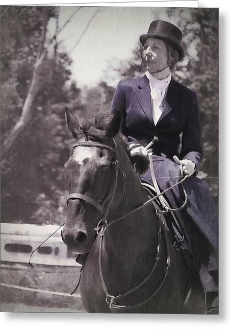 Sidesaddle Greeting Card by JAMART Photography