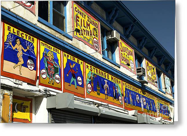 Sideshow Colors Greeting Card by John Rizzuto