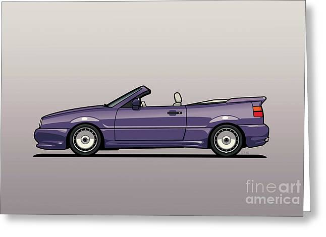 Sideview Of An Vw Corrado Convertible Conversion By German Aftermarket And Tuning Specialist Zender  Greeting Card
