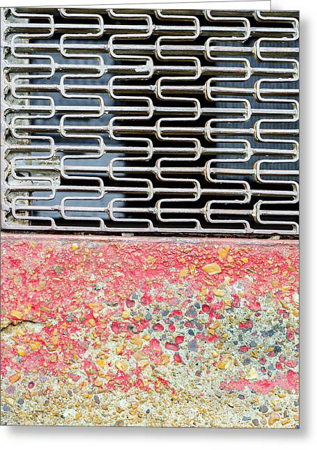 Sidewalk And Grate Greeting Card by KM Corcoran
