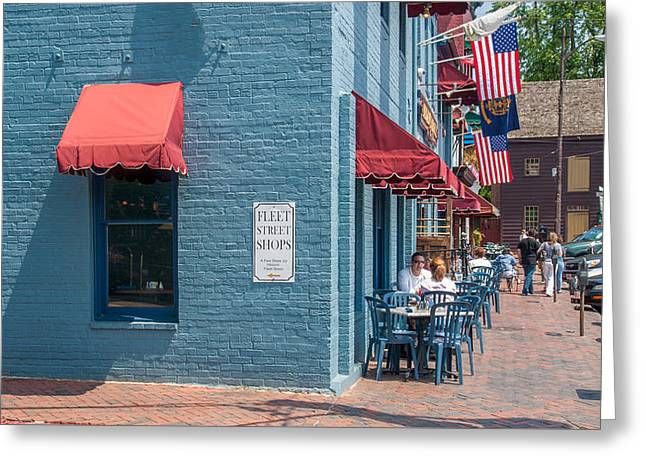 Sidewalk Cafe Annapolis Greeting Card