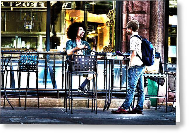 048 - Sidewalk Cafe Greeting Card