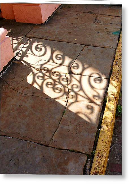 Sidewalk Shadow Greeting Card