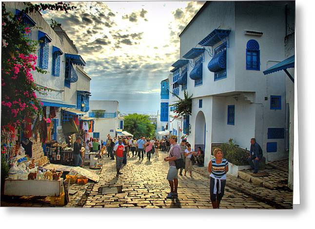 Sidi Bou Said Sunset Greeting Card by Aleksey Napolskih