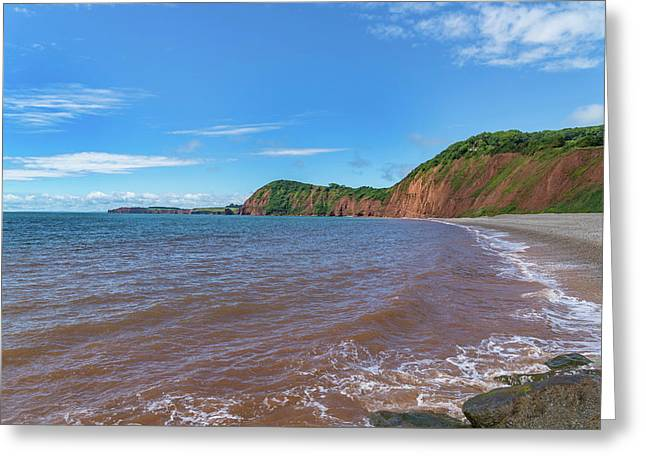 Greeting Card featuring the photograph Sidmouth Jurassic Coast by Scott Carruthers
