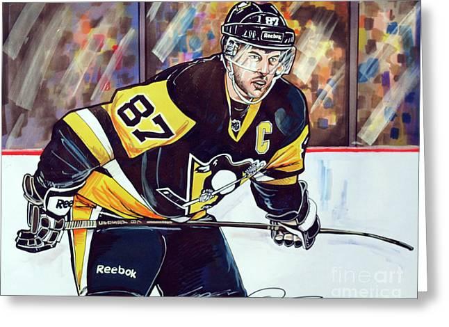Sidney Crosby 2016 Nhl Stanley Cup  Playoffs Greeting Card