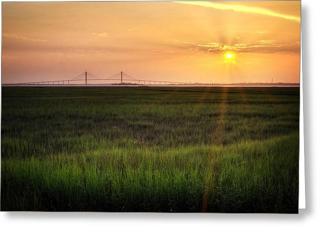 Sidney Lanier At Sunset Greeting Card