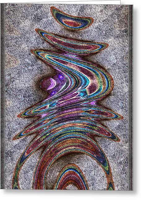 Greeting Card featuring the digital art Sidra by Kiki Art