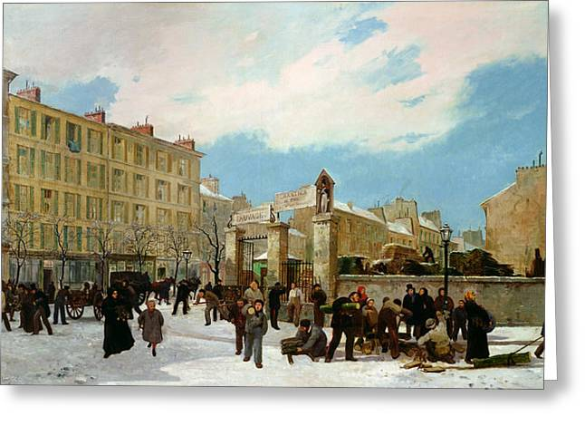 Siege Of Paris Greeting Card by Jacques Guiaud