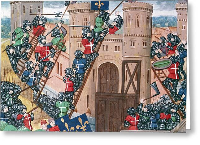Siege Of Pontaudemer, Illustration Greeting Card by Science Photo Library