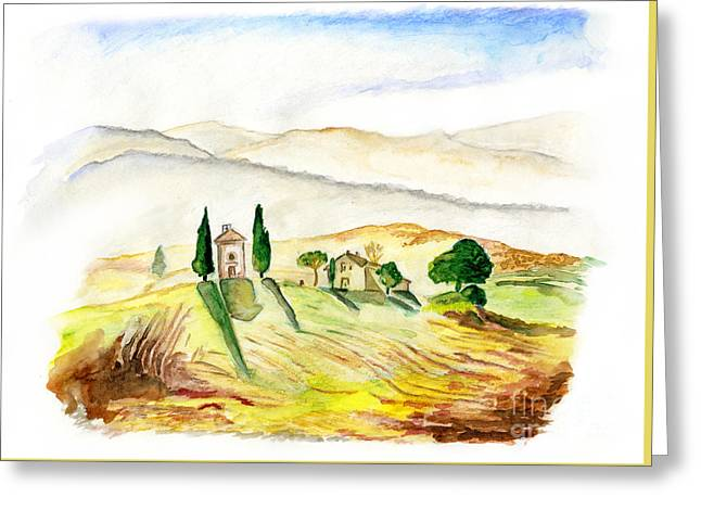 Siena. Italy Greeting Card