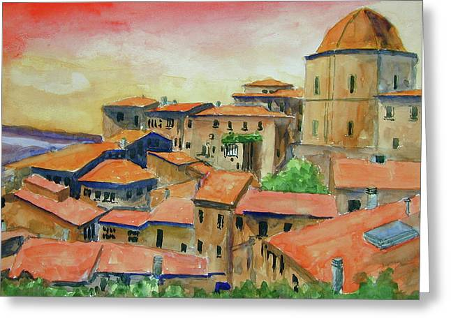 Siena Italy Greeting Card by Ron Stephens