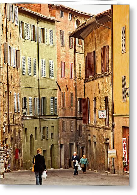 Siena Shoppers Greeting Card by Jill Love