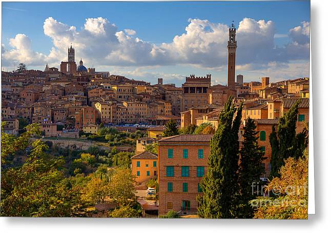 Siena Greeting Card by Spencer Baugh